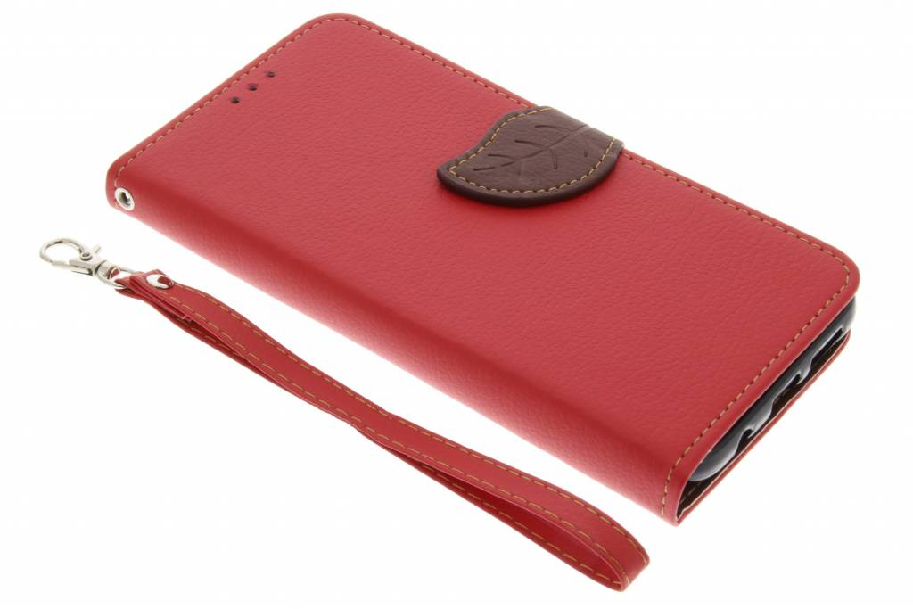 Rode blad design TPU booktype hoes voor de Samsung Galaxy S8 Plus