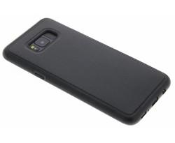 Zwart lederen TPU case Samsung Galaxy S8 Plus