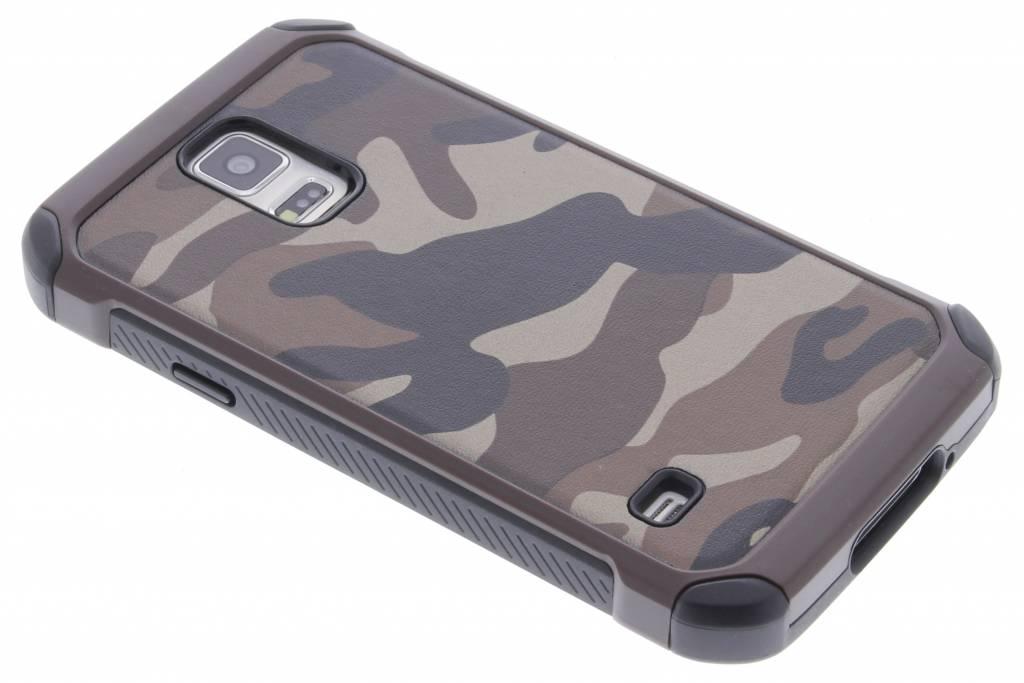 Bruin army defender hardcase hoesje voor de Samsung Galaxy S5 (Plus) / Neo