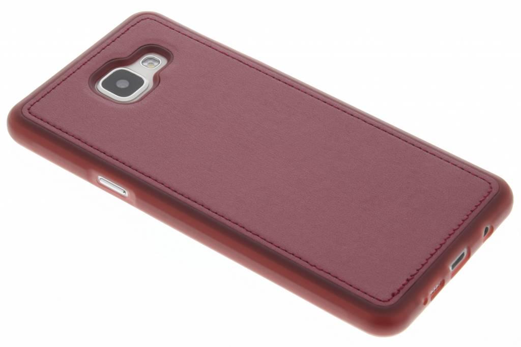 Rode metallic lederen TPU case voor de Samsung Galaxy A5 (2016)