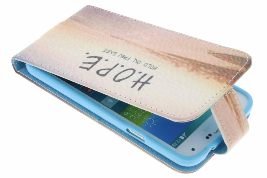 Hope design TPU flipcase voor de Samsung Galaxy S5 (Plus) / Neo