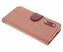 Linnen look TPU booktype hoes Samsung Galaxy S5 (Plus) / Neo