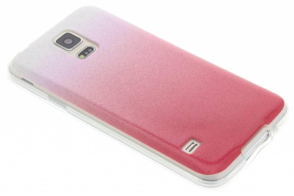 Roze glitter TPU softcase voor de Samsung Galaxy S5 (Plus) / Neo