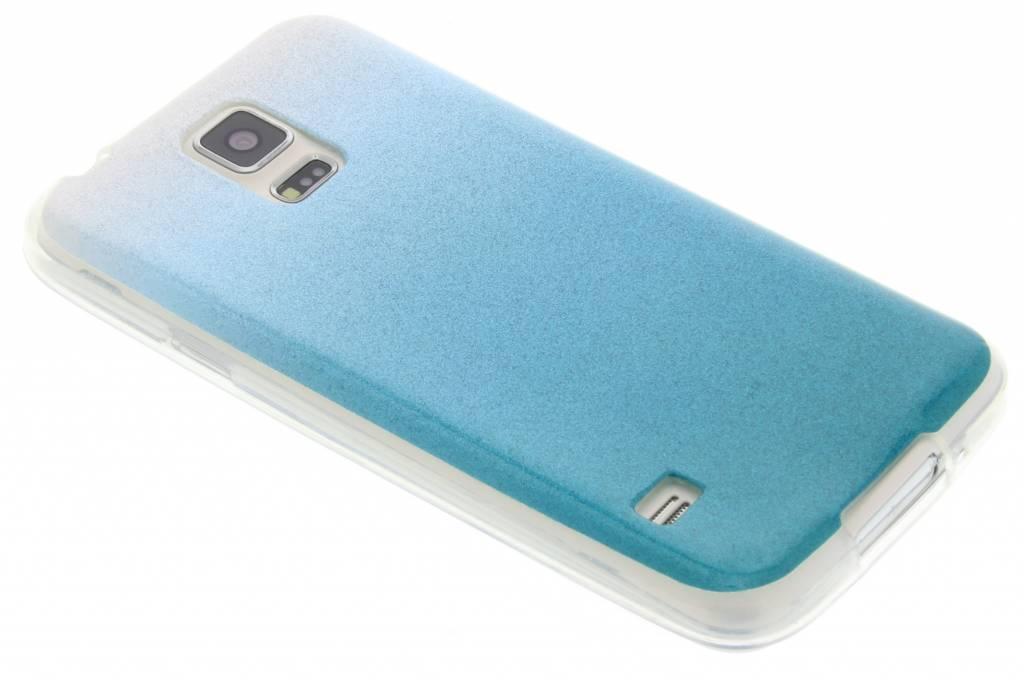Turquoise glitter TPU softcase voor de Samsung Galaxy S5 (Plus) / Neo