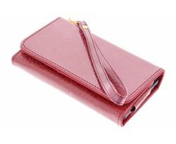 Rood glitter portemonnee hoesje Samsung Galaxy S8