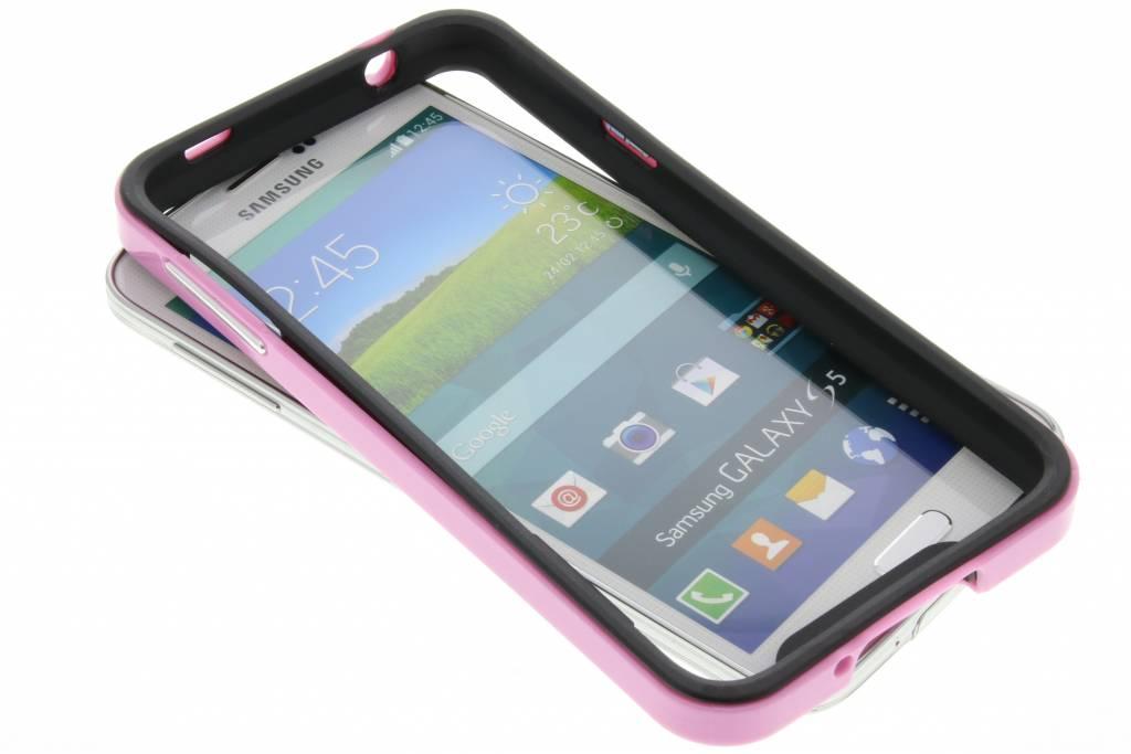 Roze bumper voor de Samsung Galaxy S5 (Plus) / Neo