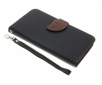 Zwart blad design TPU booktype hoes LG G6