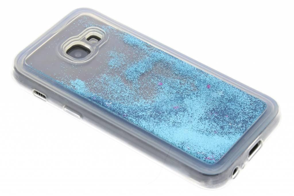 Blauwe Liquid Glitter Case voor de Samsung Galaxy A3 (2017)