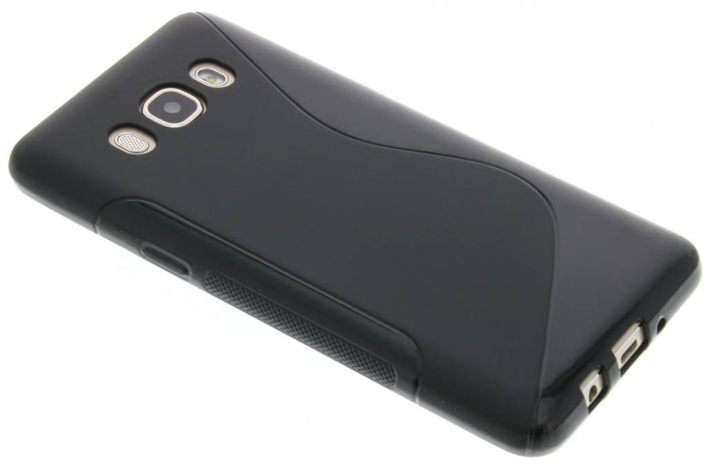 Zwart S-line TPU hoesje voor de Samsung Galaxy J5 (2016)