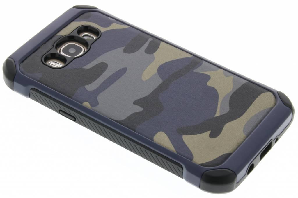 Blauw army defender hardcase hoesje voor de Samsung Galaxy J5 (2016)