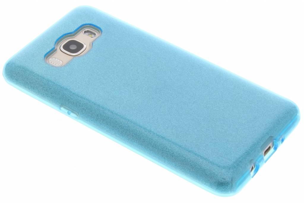 Blauwe Glamour design softcase voor de Samsung Galaxy J5 (2016)