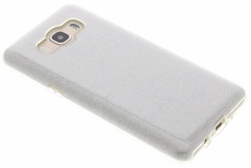 Zilveren Glamour design softcase voor de Samsung Galaxy J5 (2016)