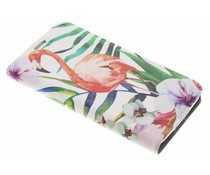 Flamingo Design Booklet Samsung Galaxy S5 (Plus) / Neo
