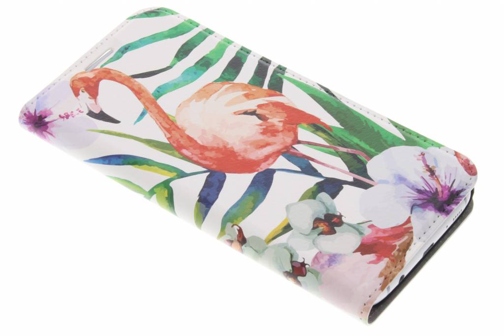 Flamingo Design Booklet voor de Samsung Galaxy S7 Edge