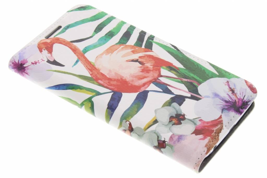 Flamingo Design Booklet voor de Samsung Galaxy S6