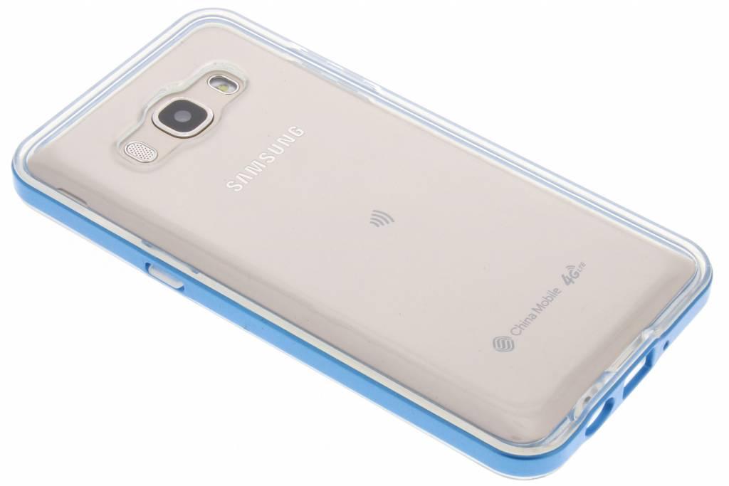 Blauwe Bumper TPU case voor de Samsung Galaxy J5 (2016)