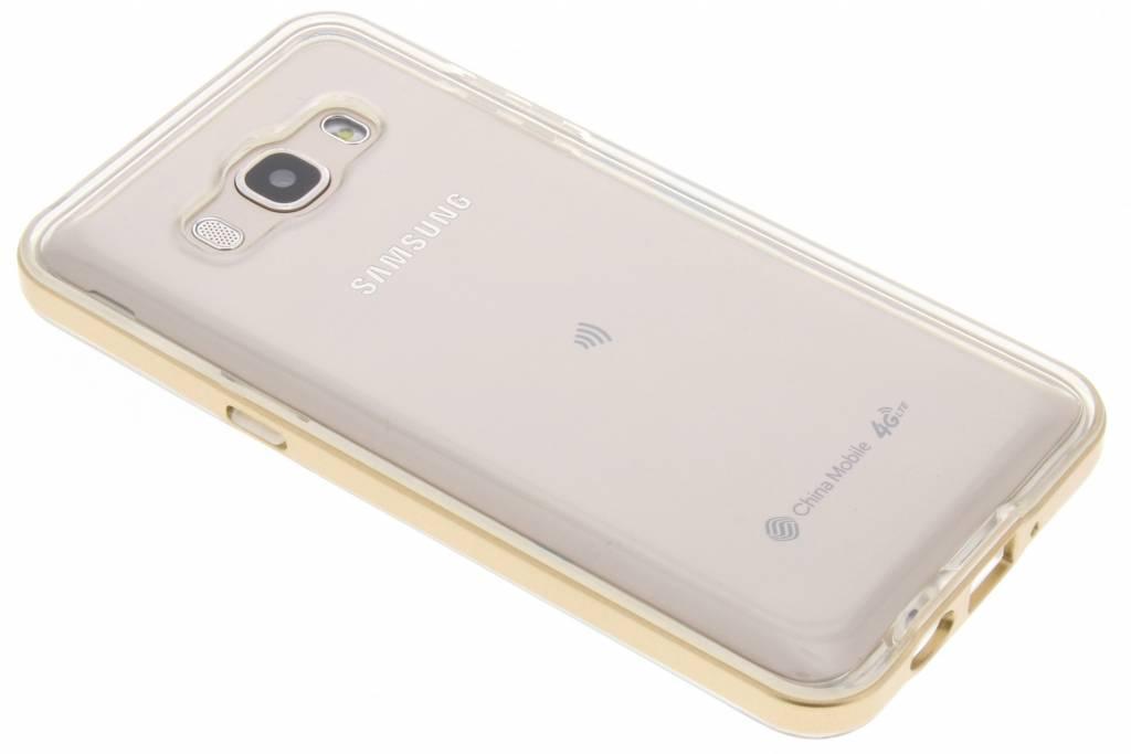 Gouden Bumper TPU case voor de Samsung Galaxy J5 (2016)