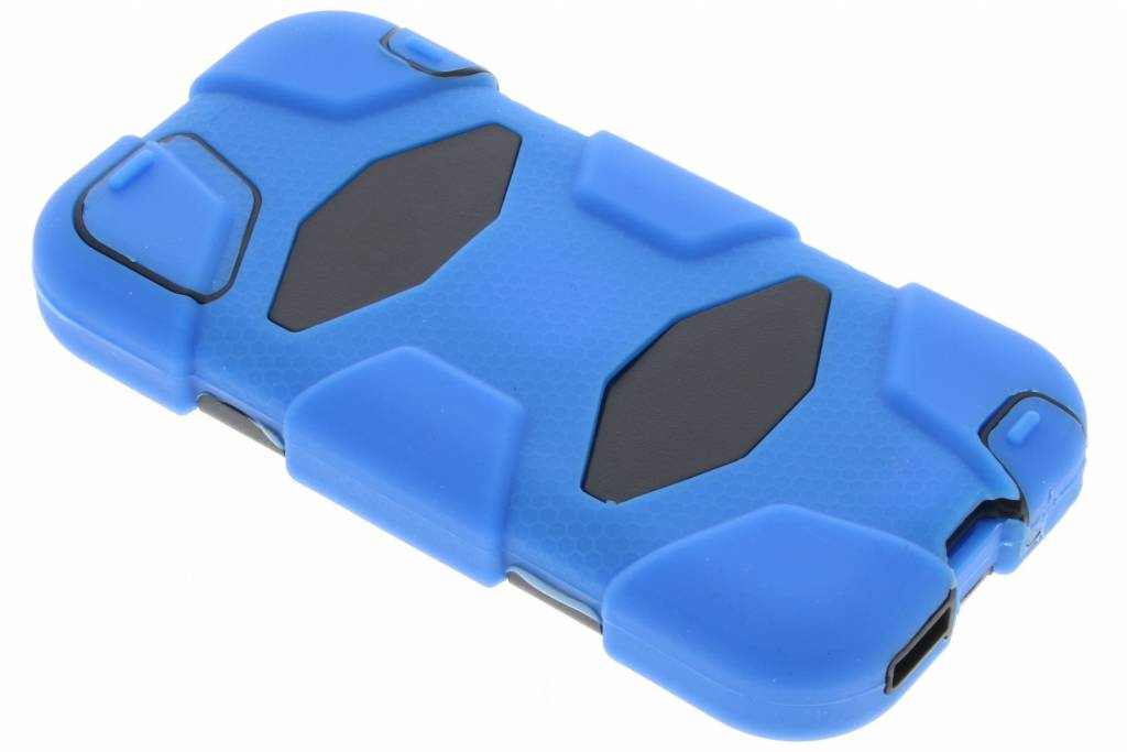 Blauwe extreme protection army case voor de iPhone 5 / 5s / SE
