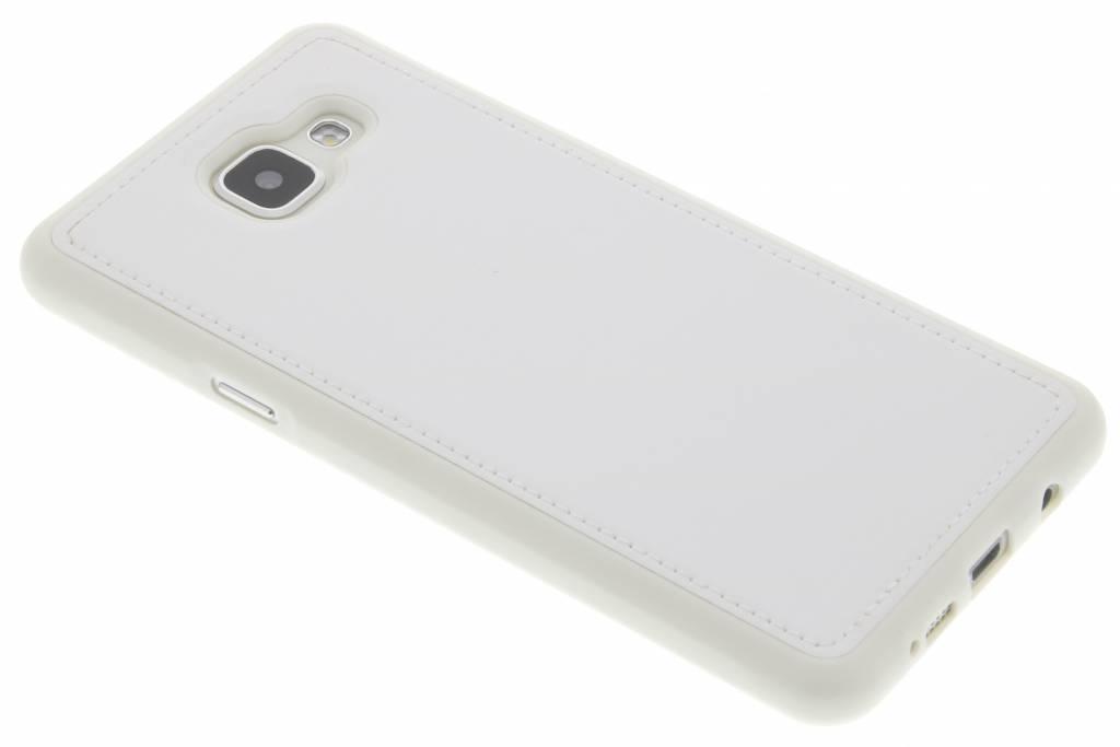 Witte lederen TPU case voor de Samsung Galaxy A5 (2016)