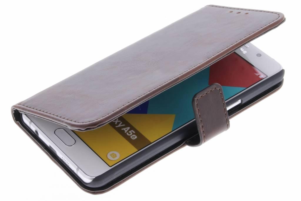 Cas De Luxe De Type Livre En Cuir Brun Pour Le Samsung Galaxy A5 (2016) bf1tA