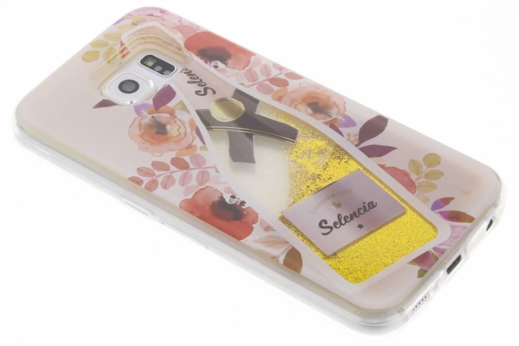 Gouden Champagne Glittercase voor de Samsung Galaxy S6