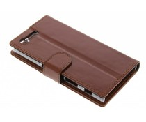 Valenta Booklet Classic Luxe Sony Xperia X Compact - Bruin