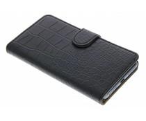 Zwart krokodil booktype hoes Huawei Y5 2 / Y6 2 Compact