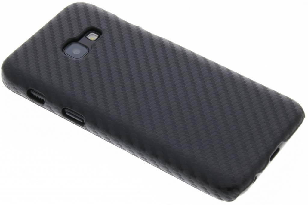 Zwart carbon look hardcase hoesje voor de Samsung Galaxy A3 (2017)