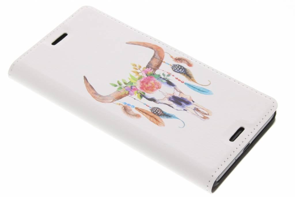 Bull Skull Design Booklet voor de Sony Xperia X