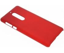 Rood effen hardcase hoesje Nokia 5