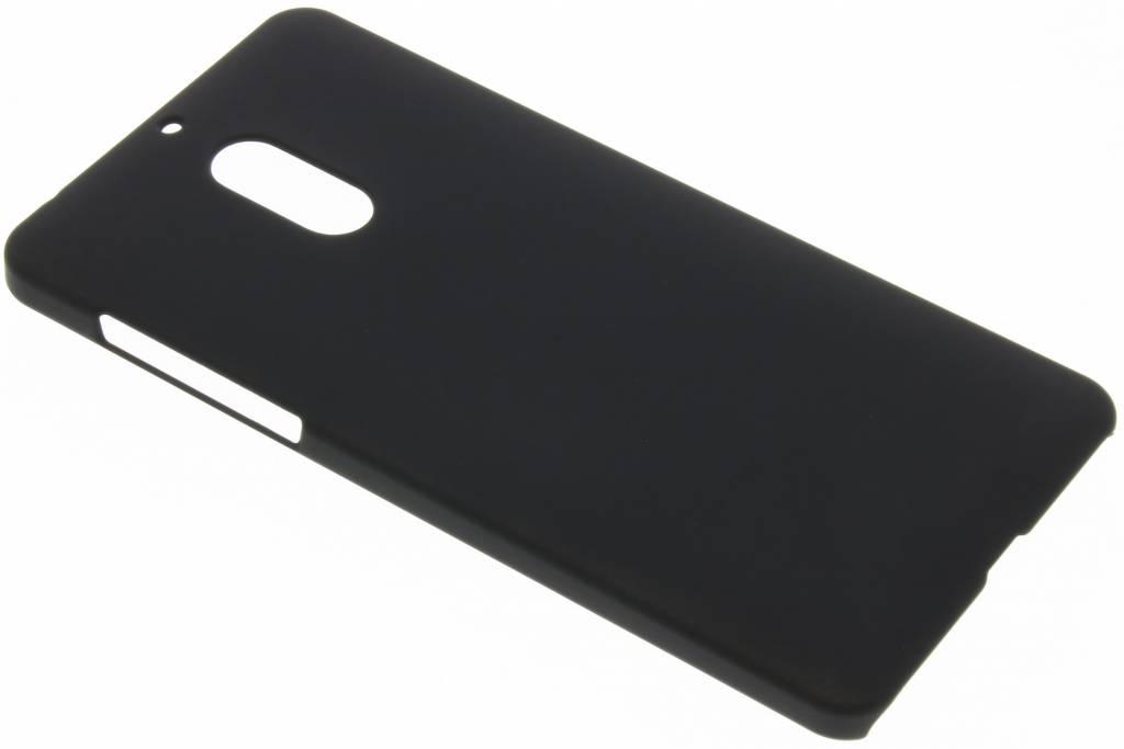 Zwart effen hardcase hoesje voor de Nokia 6