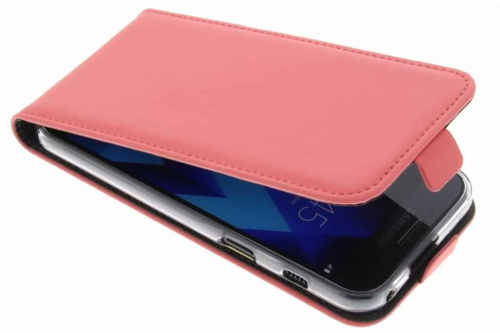 Premium TPU Flipcase voor de Samsung Galaxy A3 (2017) Peach Pink