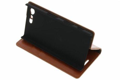 Kreukelleder De Type Livre Noir Pour Sony Xperia X Compact dUyCJus