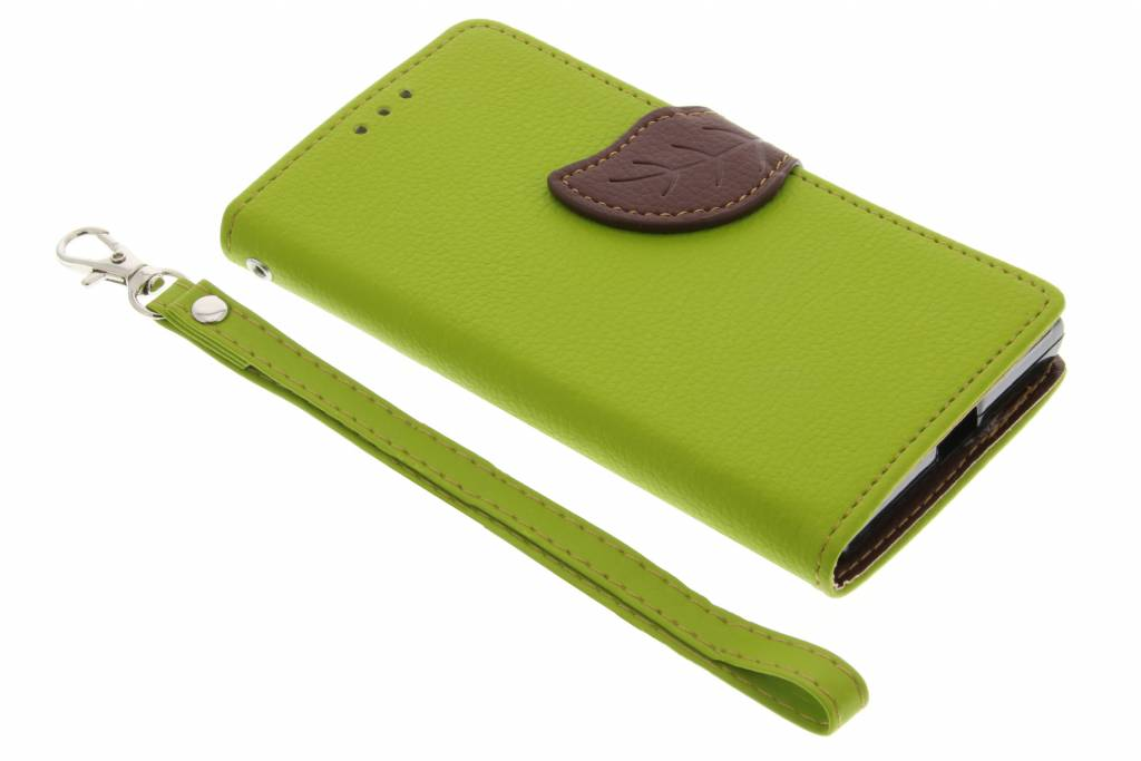Groene blad design TPU booktype hoes voor de Sony Xperia X Compact