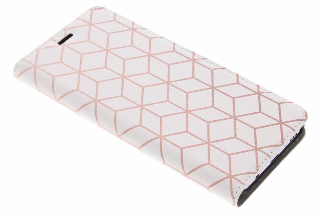 Cubes Rose Gold Design Booklet voor de Samsung Galaxy S8