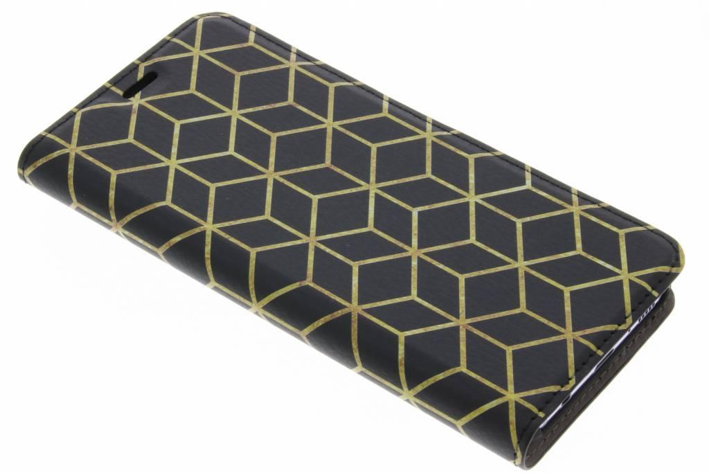 Cubes Gold Design Booklet voor de Samsung Galaxy S8