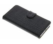 Zwart slangen booktype hoes Huawei Y5 2 / Y6 2 Compact