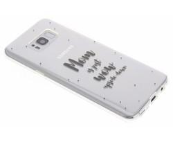 Quote design TPU hoesje Samsung Galaxy S8 Plus
