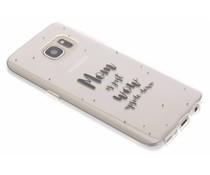 Quote design TPU hoesje Samsung Galaxy S7