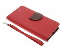 Rood blad design TPU booktype hoes Sony Xperia XA