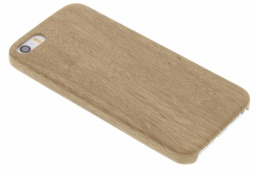 Beige Houten TPU case voor de iPhone 5 / 5s / SE
