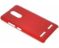 Rood effen hardcase hoesje Lenovo K6