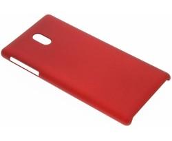 Rood effen hardcase hoesje Nokia 3