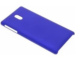 Blauw effen hardcase hoesje Nokia 3