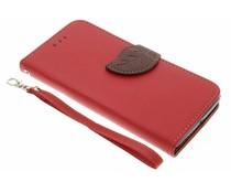 Rood blad design TPU booktype hoes Lenovo K6