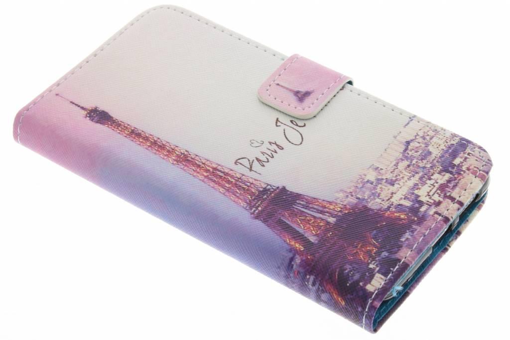 Parijs design TPU booktype hoes voor de Huawei Nova