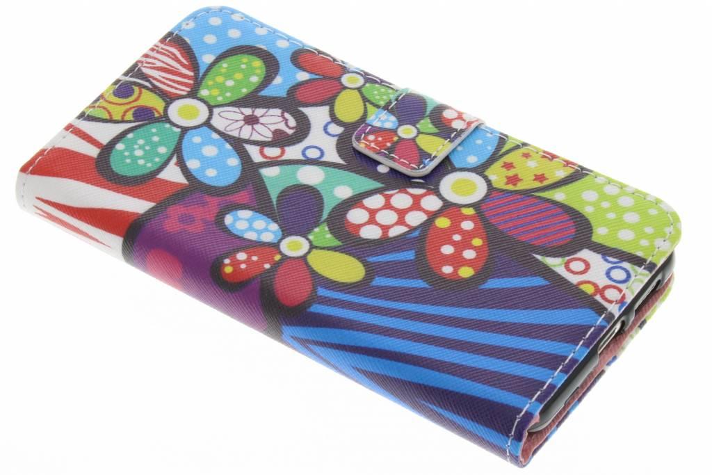 Bloemen design TPU booktype hoes voor de Huawei Nova