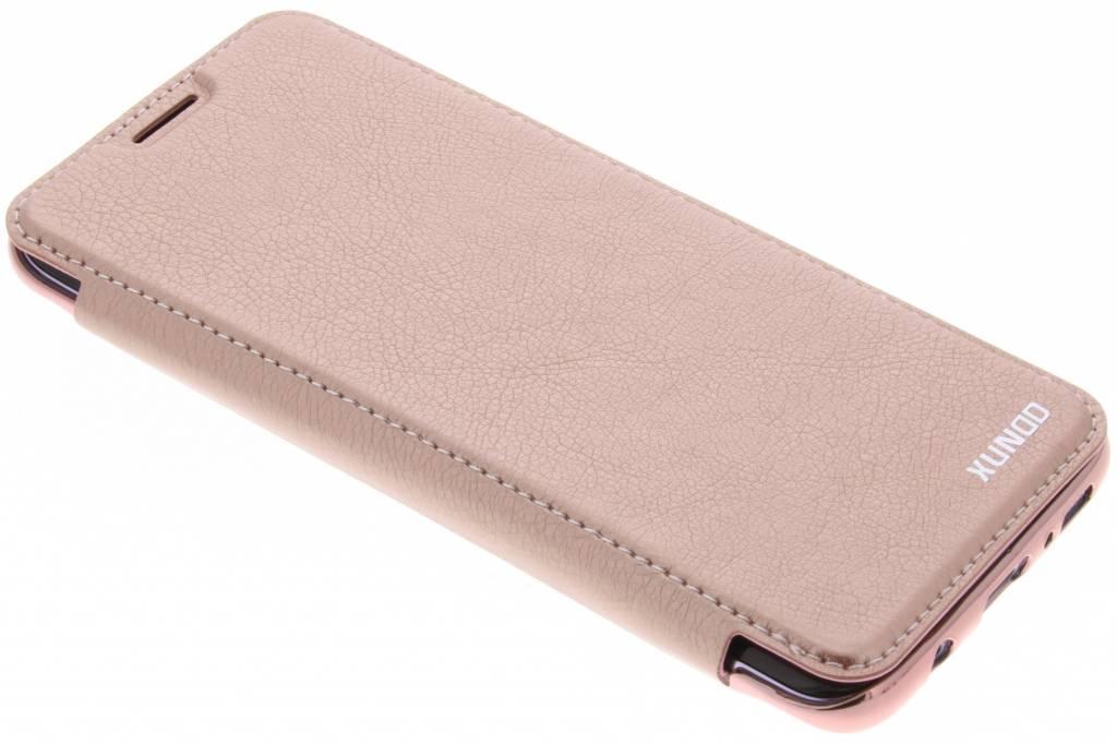 Roze crystal slim book case voor de Samsung Galaxy S8