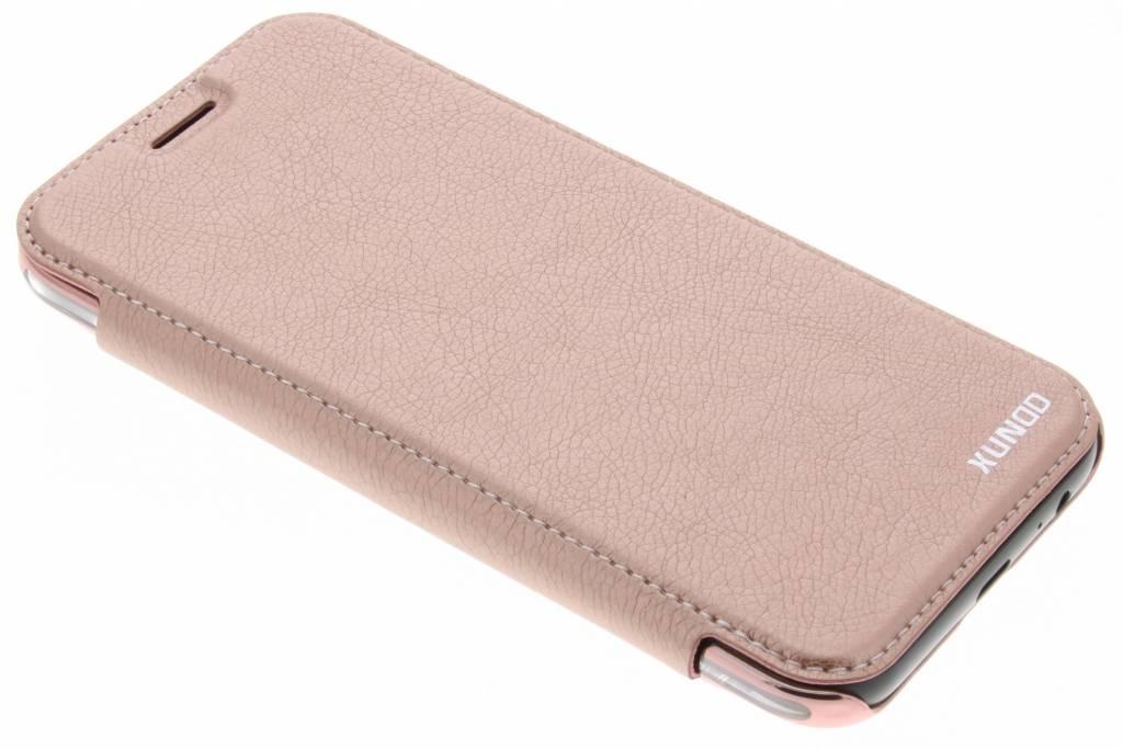 Rosé Cas Du Livre Intelligent Cristal D'or Pour Le Samsung Galaxy A5 (2017) eOsAZNr