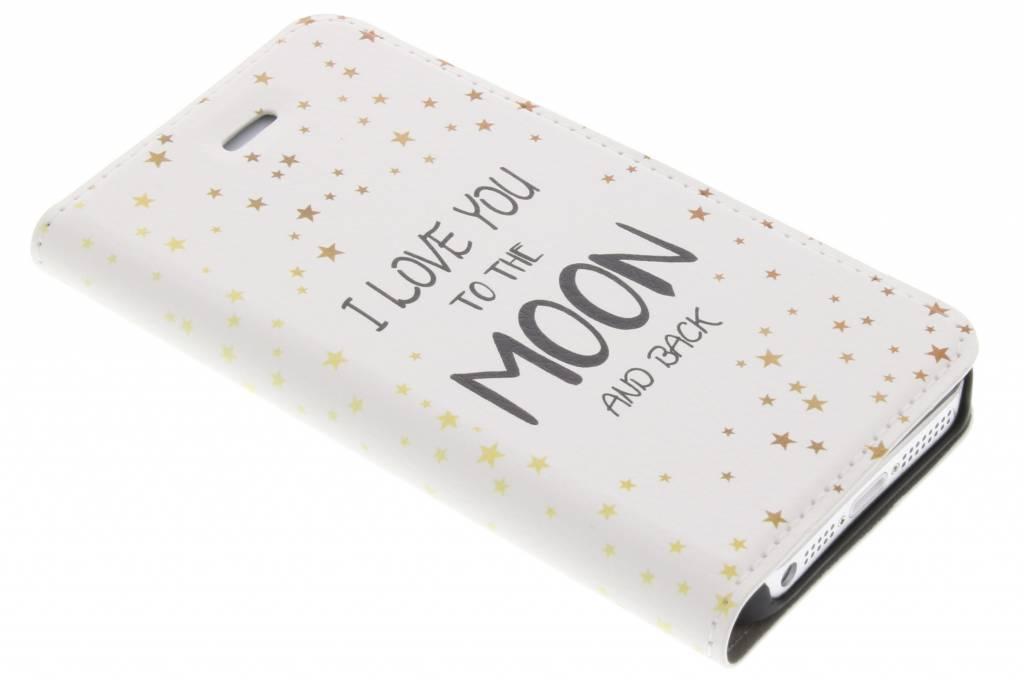 Love You To The Moon Design Booklet voor de iPhone 5 / 5s / SE